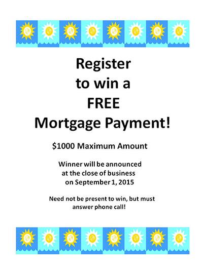 September Mortgage Giveaway 2015