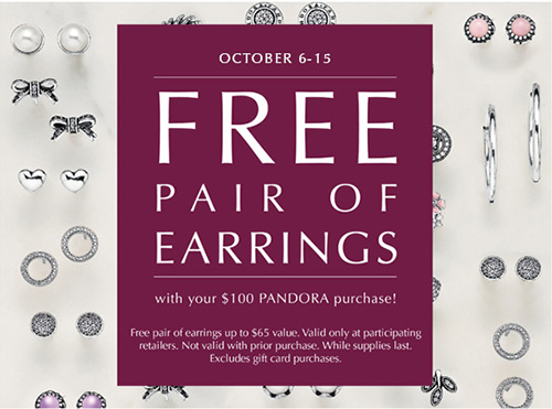 Free Earrings - PANDORA