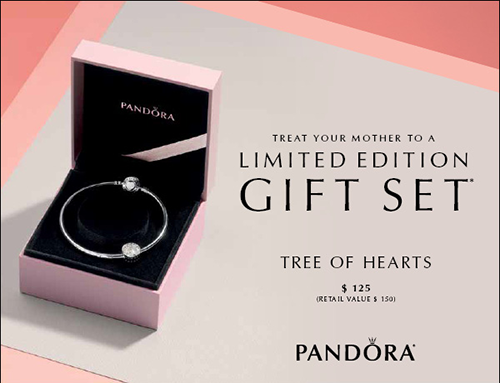8c96f53d4 Shown above are the Tree of Hearts limited edition gift set, and the 2017  Mother's Day gift set. Both come in a PANDORA embossed gift box.